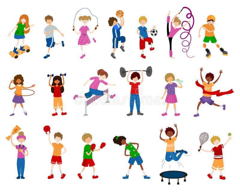 Deportes de los niños del vector ilustración del vector
