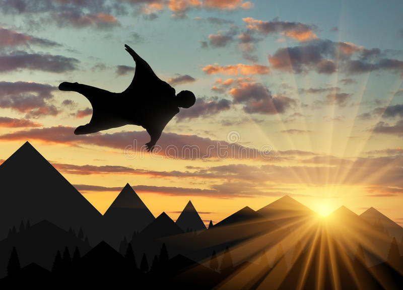 Deportes del extremo de Wingsuit imágenes de archivo libres de regalías