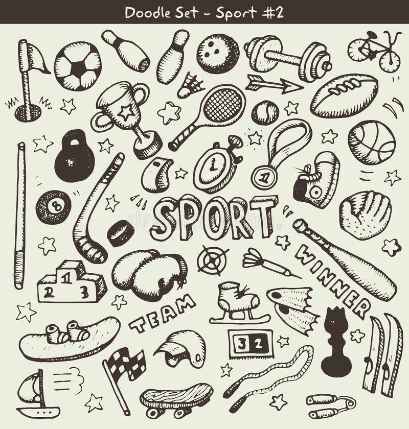 Deportes del garabato stock de ilustración