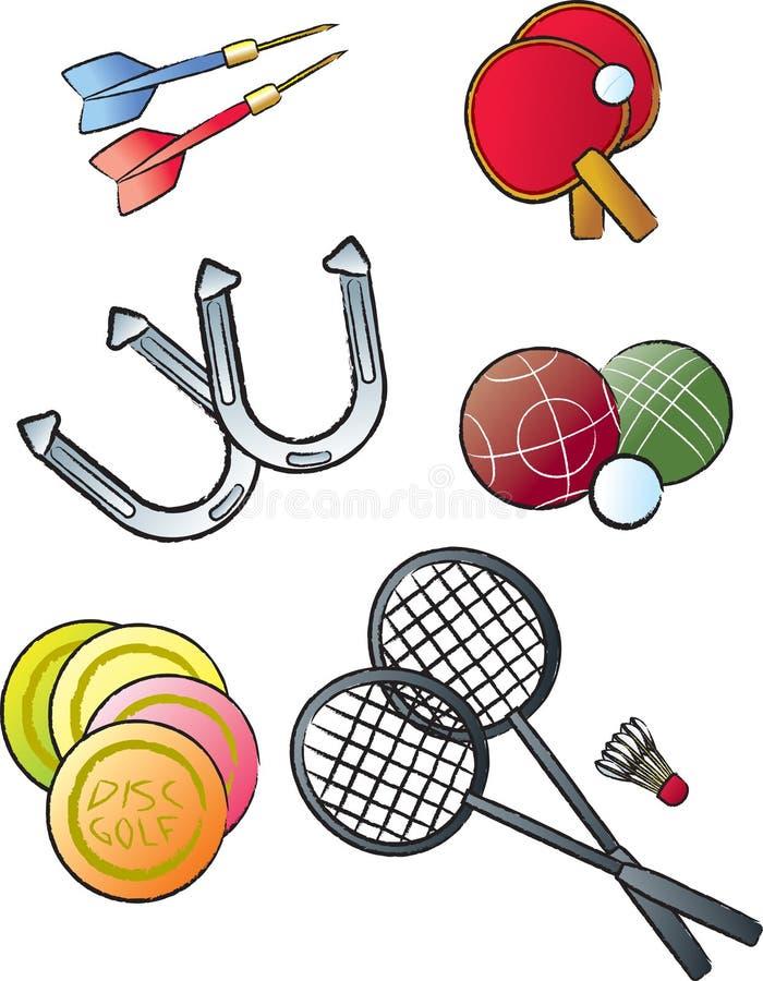 Deportes del ocio ilustración del vector