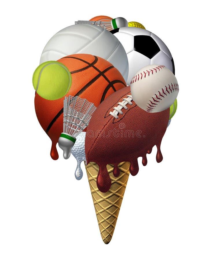Deportes del verano stock de ilustración