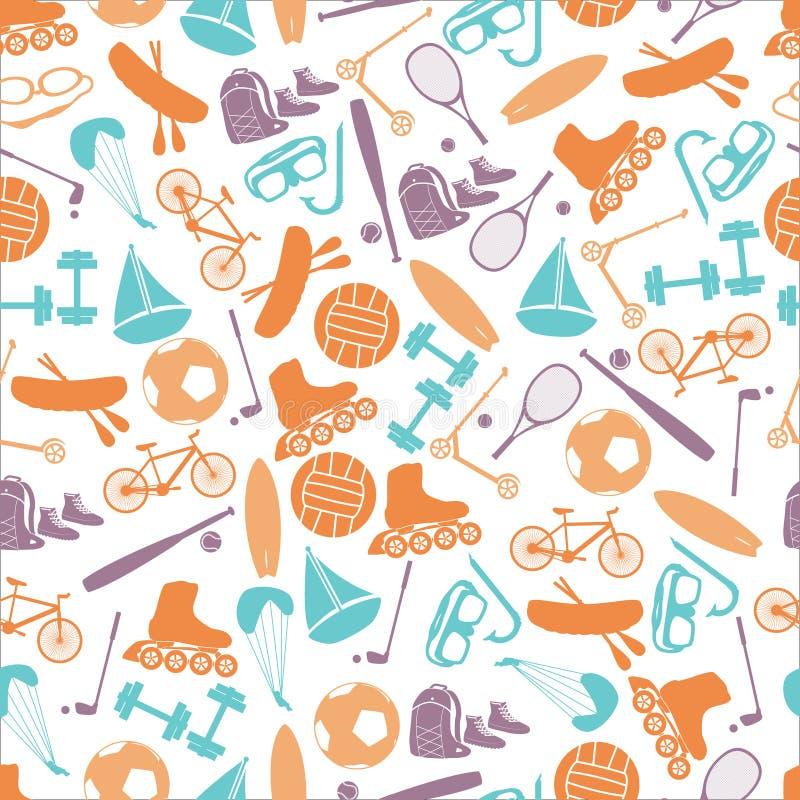 Deportes del verano y modelo eps10 del color del equipo stock de ilustración
