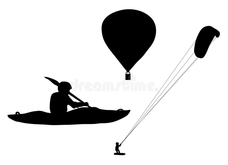 Deportes extremos stock de ilustración