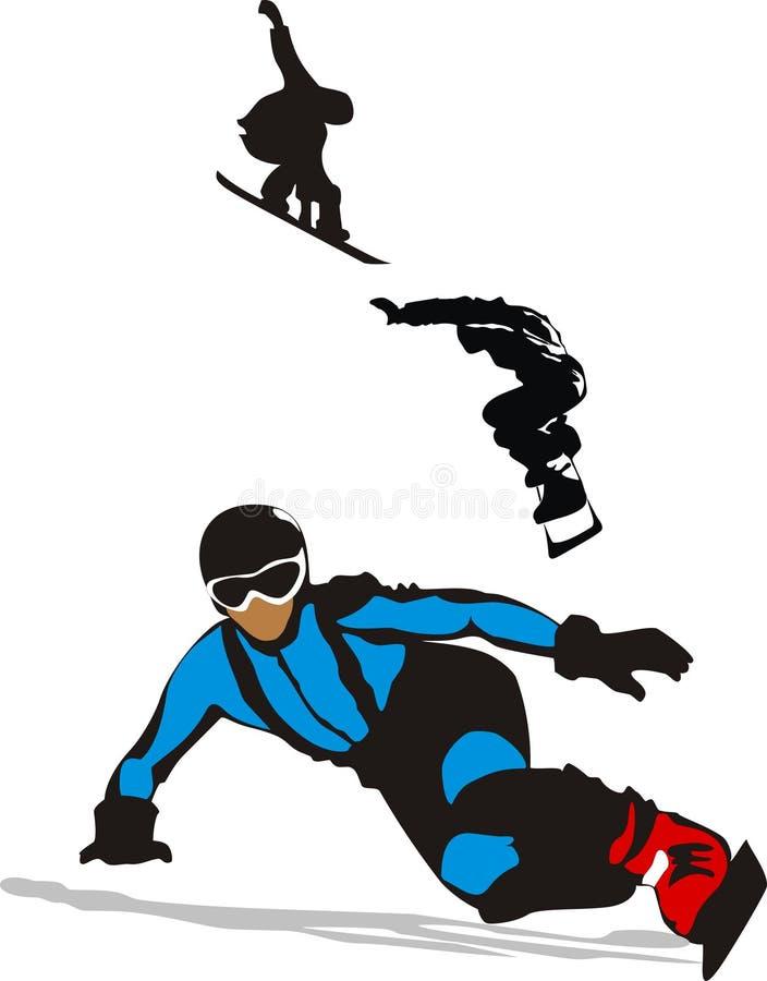 Deportes extremos - un snowboard ilustración del vector