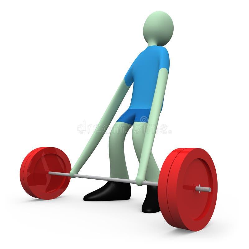 Deportes - levantamiento de pesas ilustración del vector