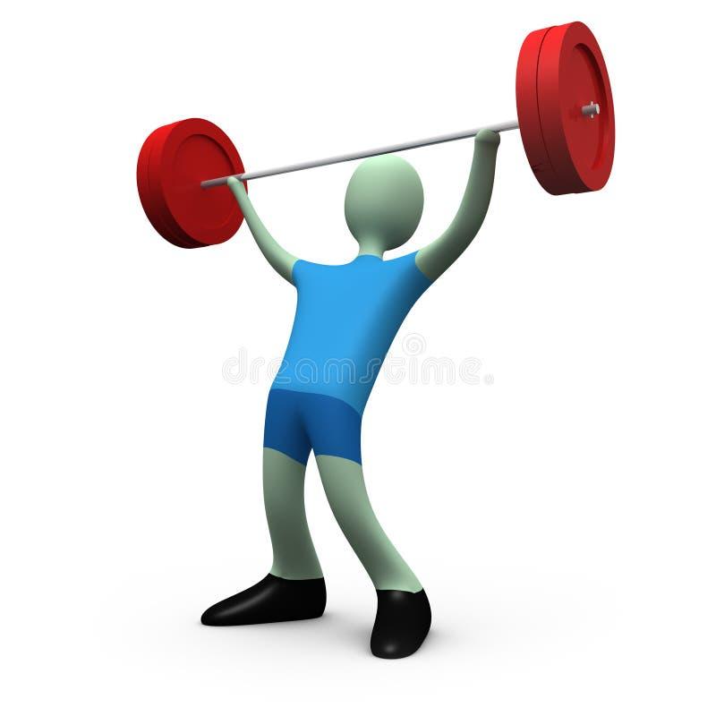 Deportes - levantamiento de pesas stock de ilustración
