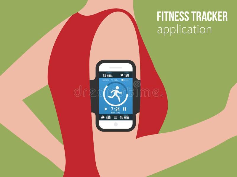 Deportes o aptitud app de seguimiento para la gente corriente libre illustration