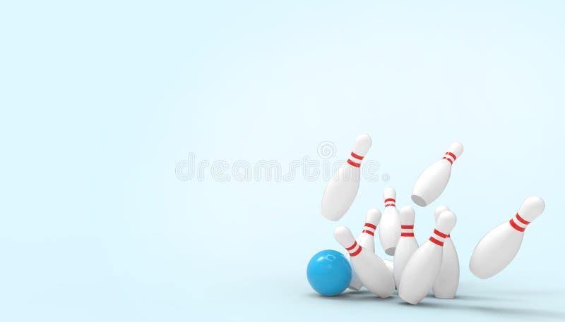 Deportes y concepto del juego que ruedan futurista en el fondo azul por vacaciones de verano ilustración del vector