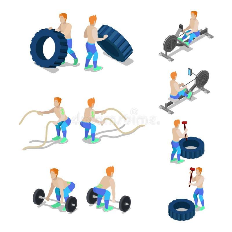Deportistas isom tricos en entrenamiento y ejercicios del for Gimnasio 9 y 57