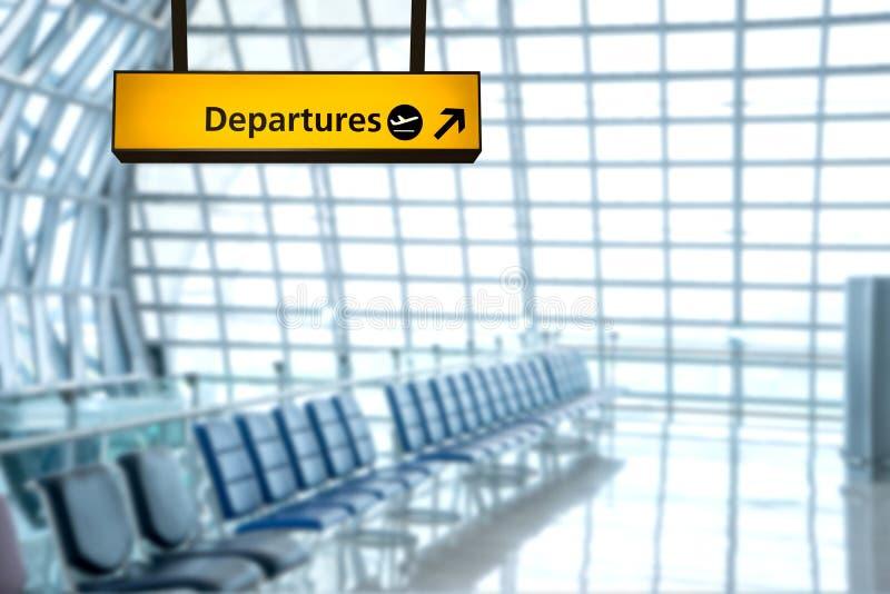 Deporture σημαδιών αερολιμένων και πίνακας άφιξης στοκ εικόνες