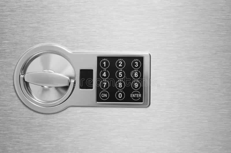 Deposit cell safe box with code lock royalty free stock images
