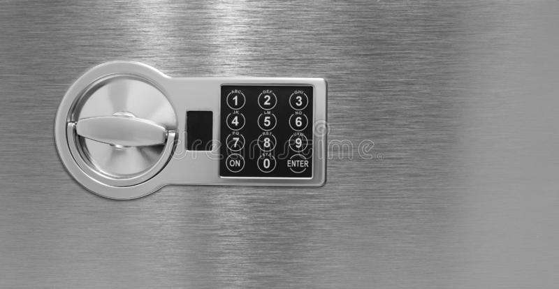 Deposit cell safe box with code lock royalty free stock image
