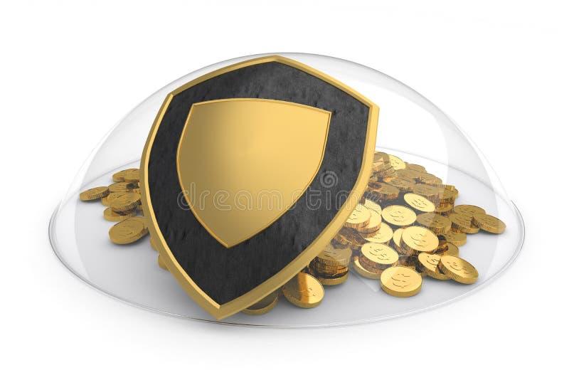 Deposit protection concept stock illustration