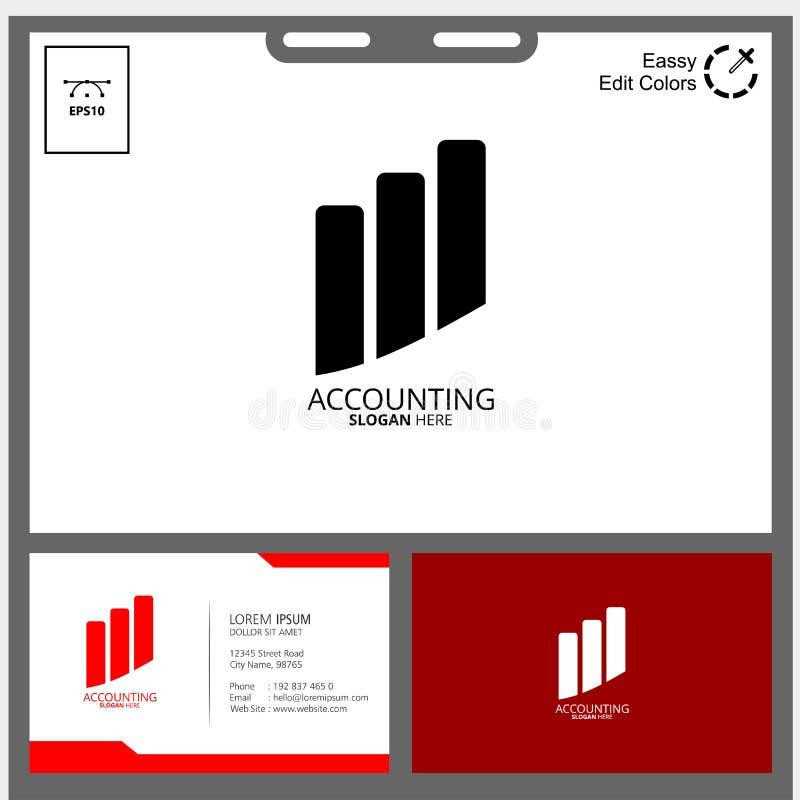 Depositando o conceito da contabilidade da empresa ou do logotipo do negócio da gestão de dinheiro imagem de stock
