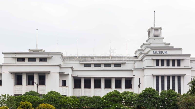 Deposite a construção do museu de Mandiri na cidade velha de Jakarta em Indonésia foto de stock