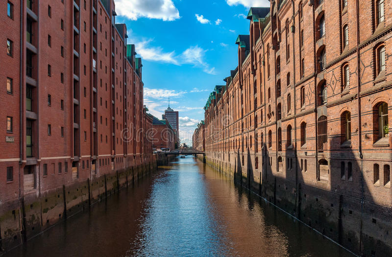 Depositi di Amburgo, Germania fotografie stock libere da diritti