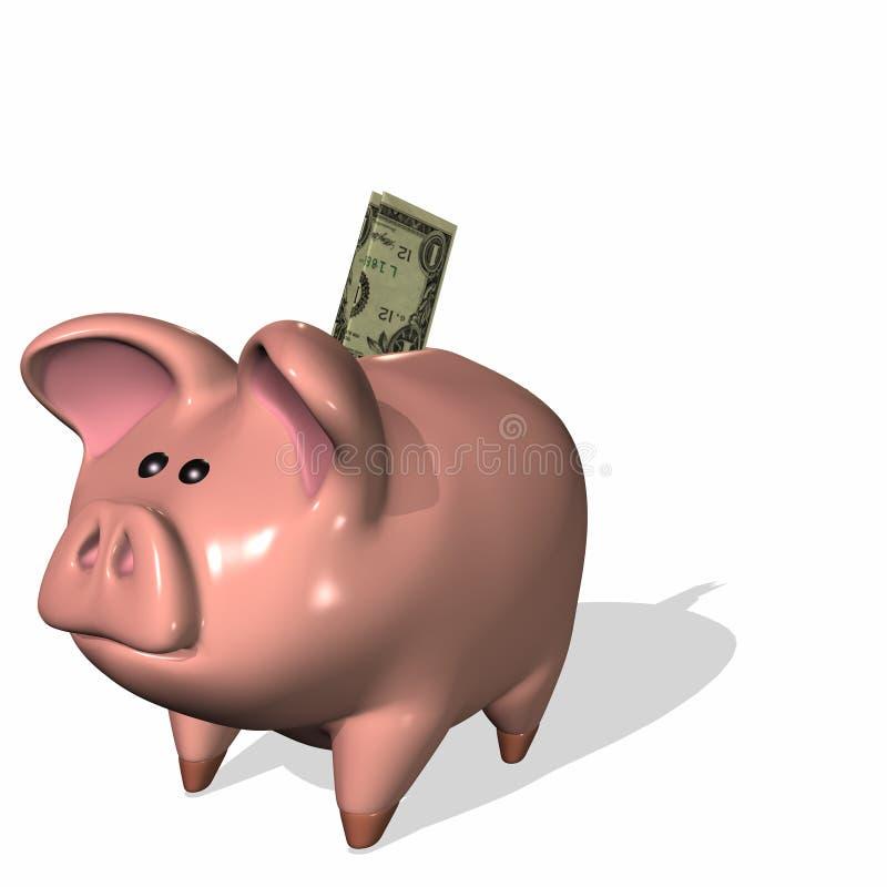 Deposito bancario illustrazione vettoriale