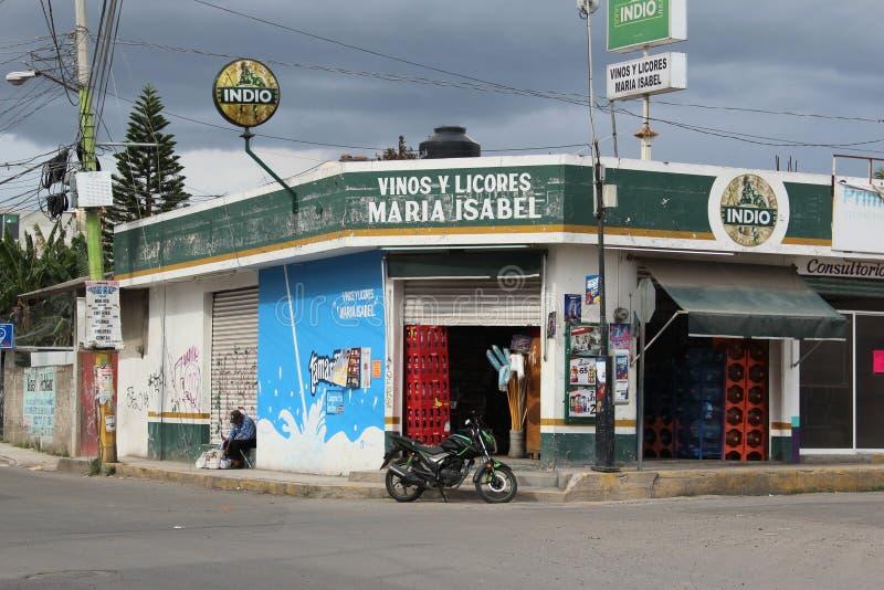 Deposito d'angolo di Puebla, Messico fotografie stock libere da diritti
