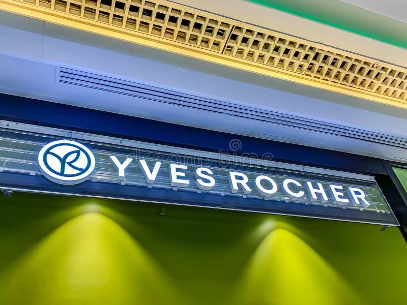 Deposito dei cosmetici di Yves Rocher in un centro commerciale fotografie stock