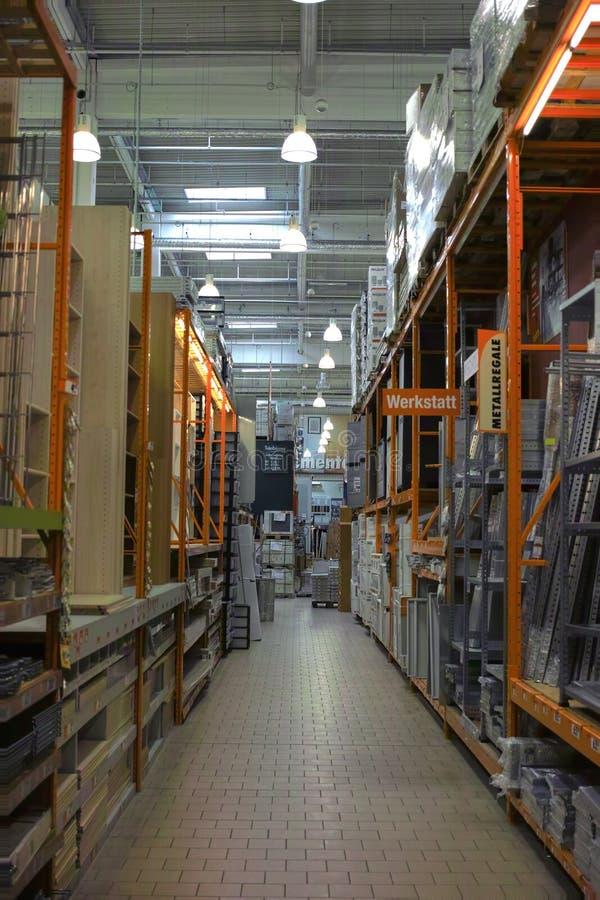 Deposito dei materiali da costruzione immagini stock