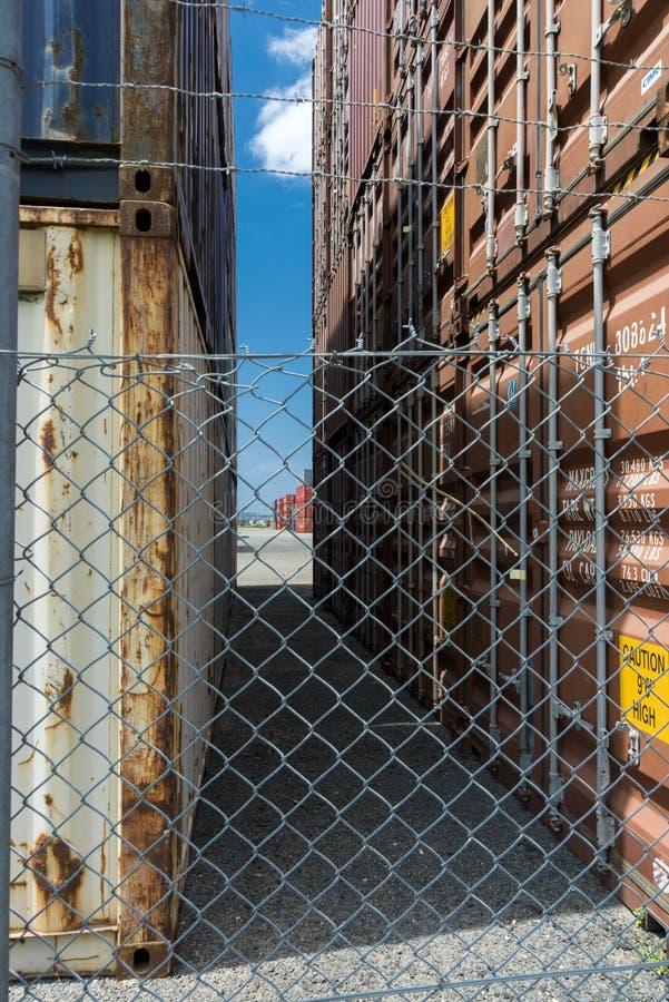Deposito del container fotografie stock libere da diritti