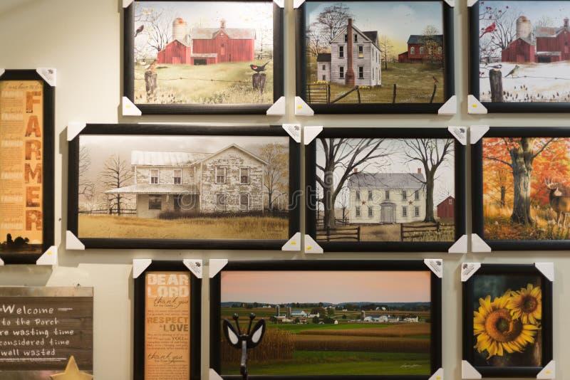 Deposito del mercato di Amish immagini stock libere da diritti