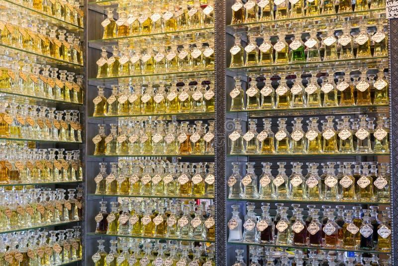 Deposito del profumo, Medio Oriente fotografia stock