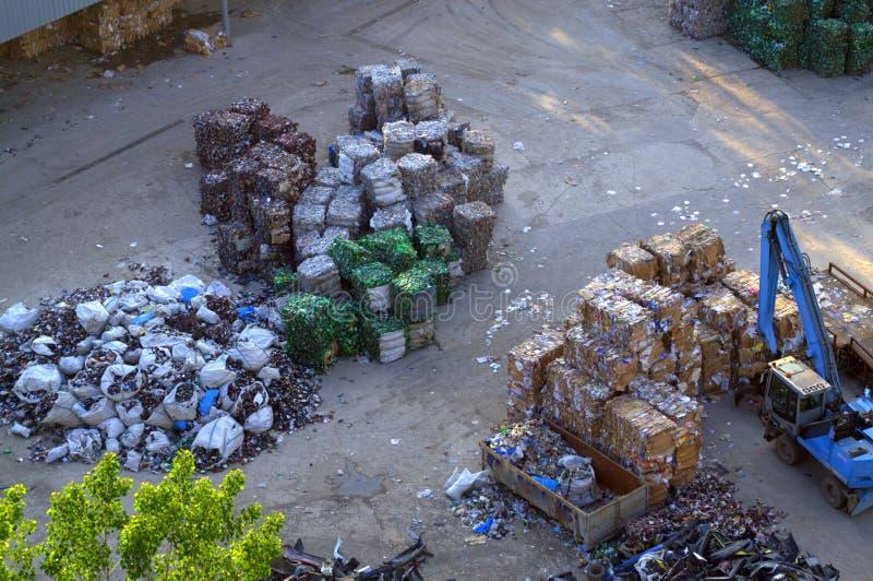 Deposito del residuo immagine stock