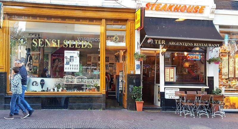 Deposito del seme di Sensi a Amsterdam fotografia stock