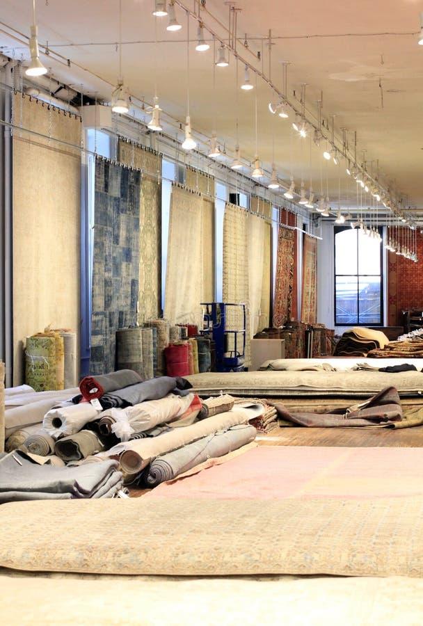 Deposito del tappeto fotografia stock