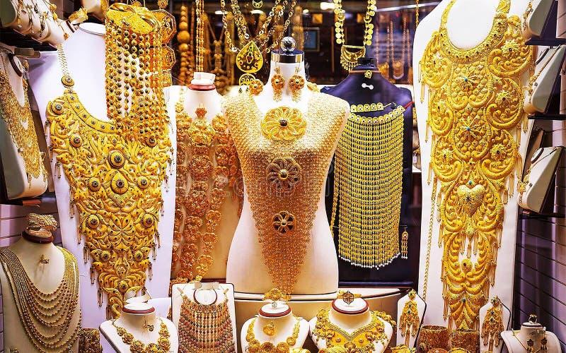 Deposito dell'oro dei gioielli fotografia stock libera da diritti