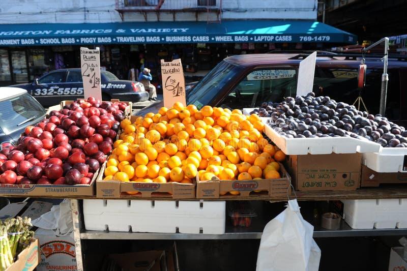 Deposito della frutta a Brooklyn fotografia stock libera da diritti