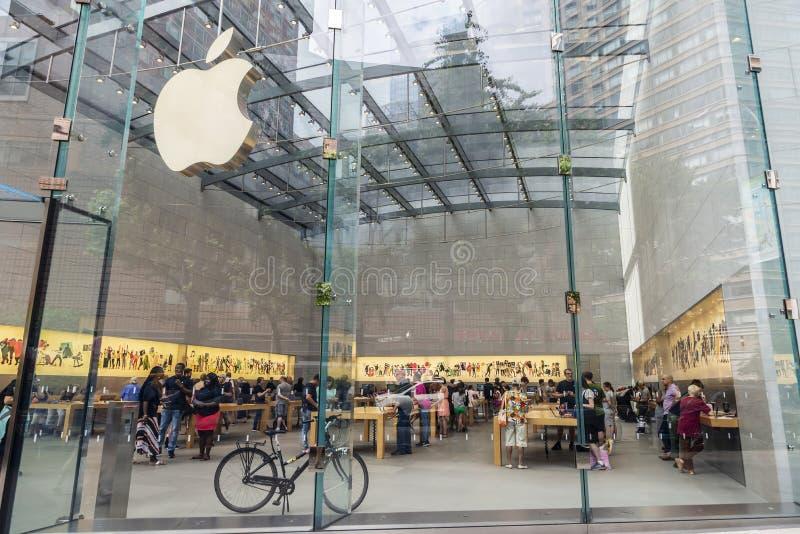 Deposito di Apple in Manhattan, New York, U.S.A. immagini stock