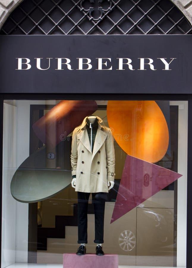Deposito di Burberry fotografia stock libera da diritti