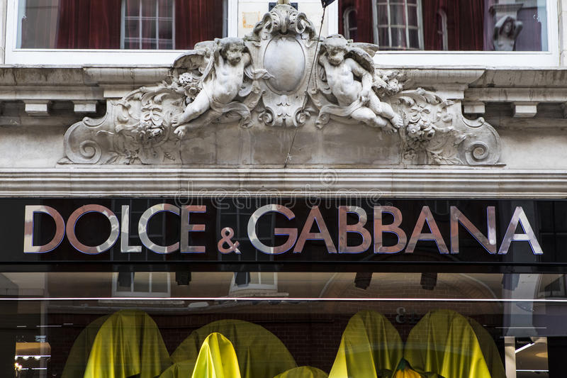 Deposito di Gabbana e di Dolce a Londra immagini stock