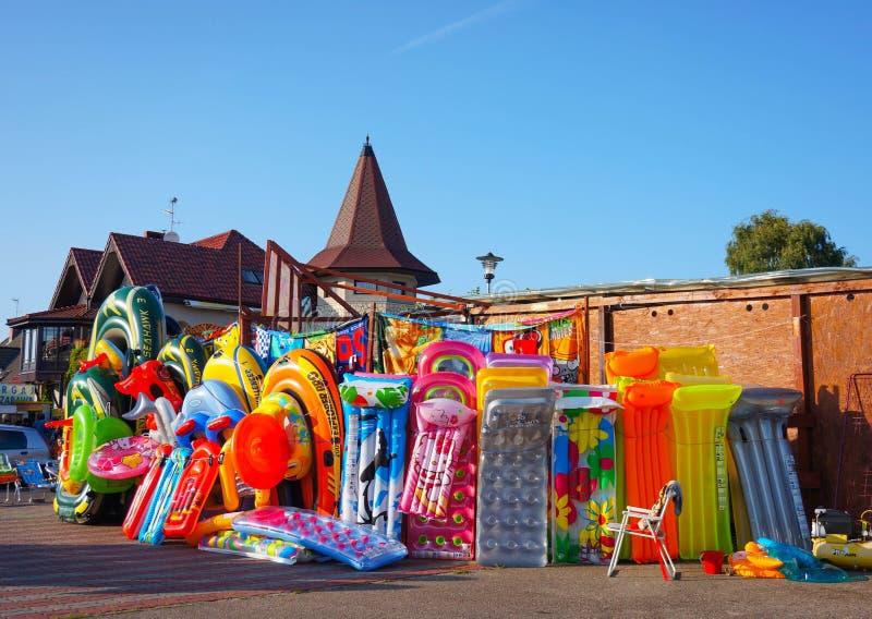 Deposito di giocattoli della spiaggia fotografie stock libere da diritti