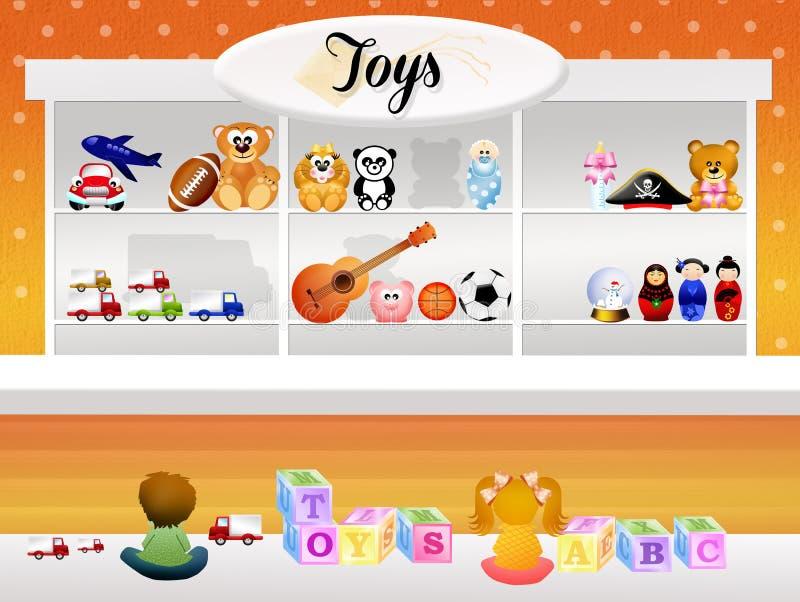 Deposito di giocattolo illustrazione di stock