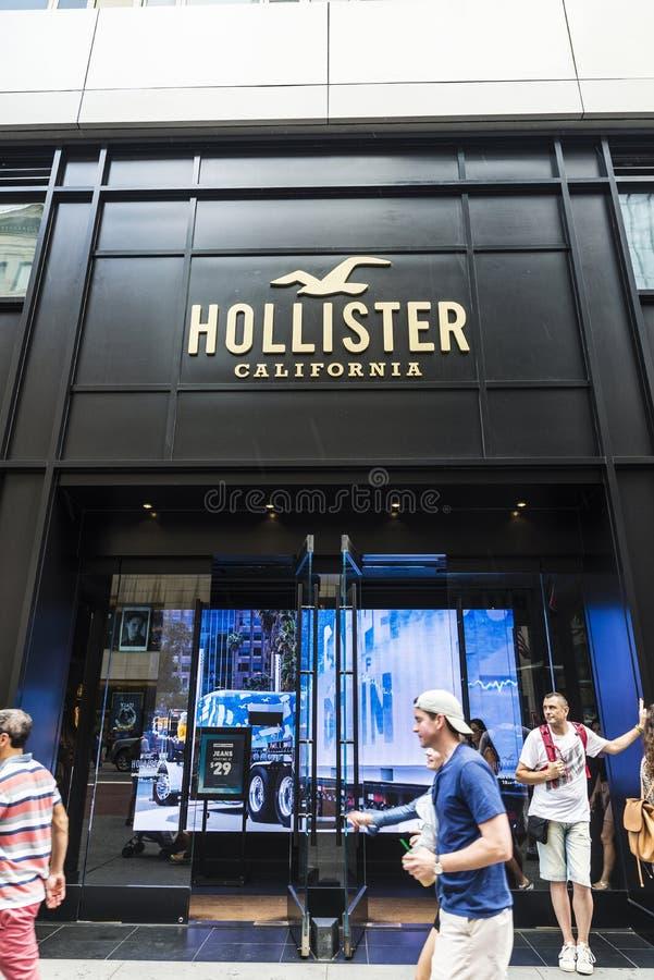 Deposito di Hollister California in New York, U.S.A. fotografia stock