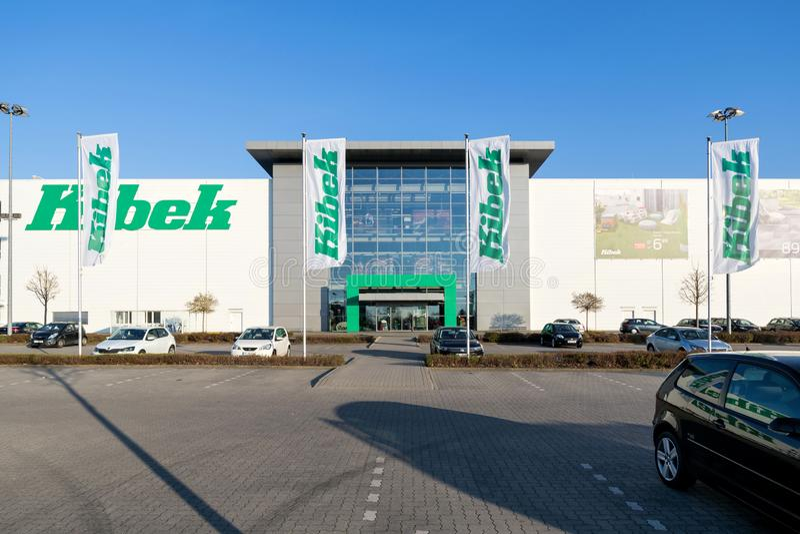 Deposito di Kibek in Elmshorn, Germania fotografie stock
