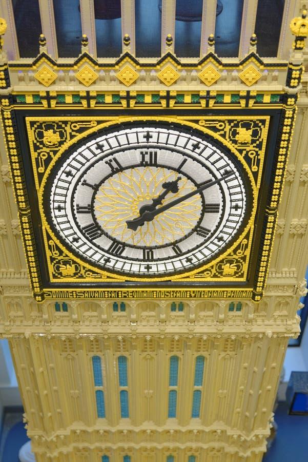 Deposito di LEGO, Big Ben, Londra, Inghilterra fotografie stock libere da diritti