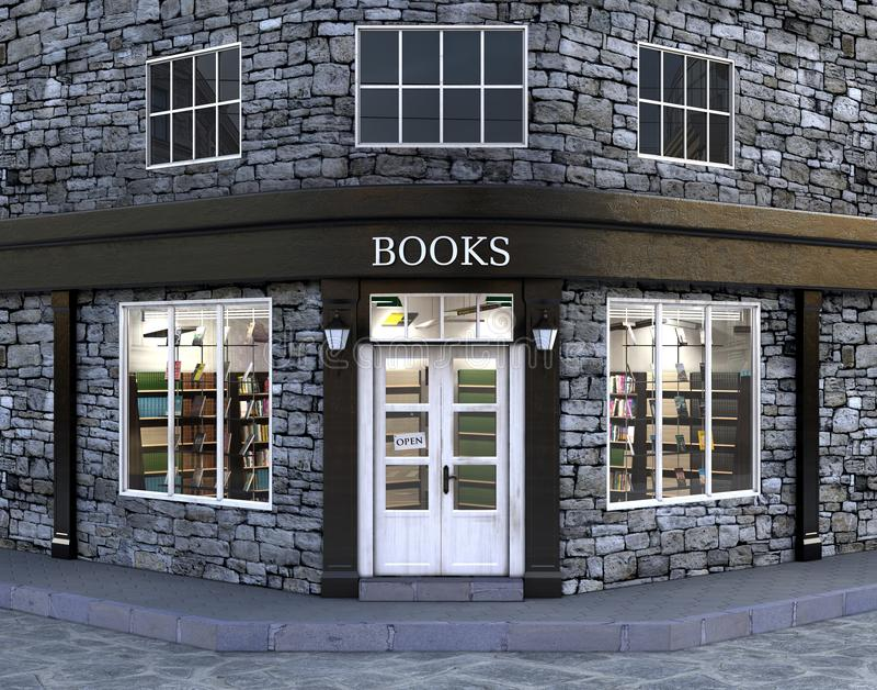 Deposito di libro, esterno, royalty illustrazione gratis