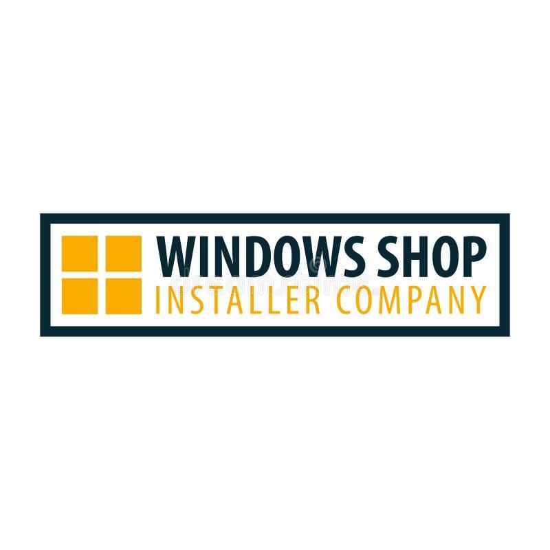 Deposito di Logo Windows Società dell'installatore Illustrazione di vettore royalty illustrazione gratis