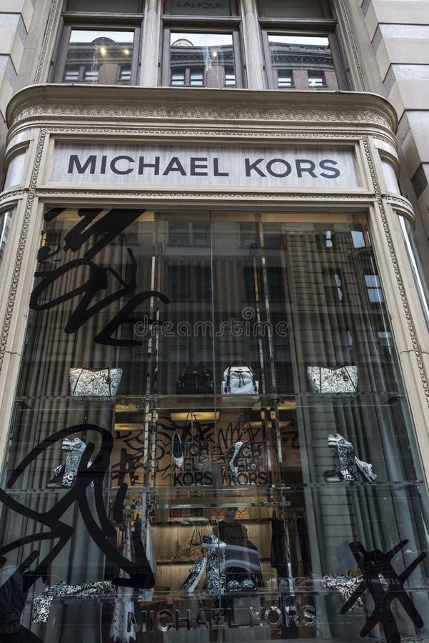 Deposito di Michael Kors in New York, U.S.A. fotografia stock libera da diritti