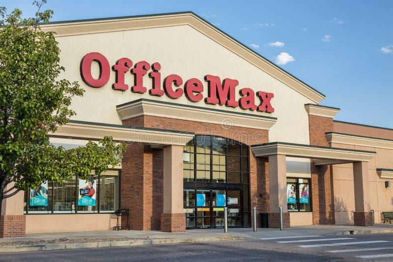 Deposito di OfficeMax fotografie stock
