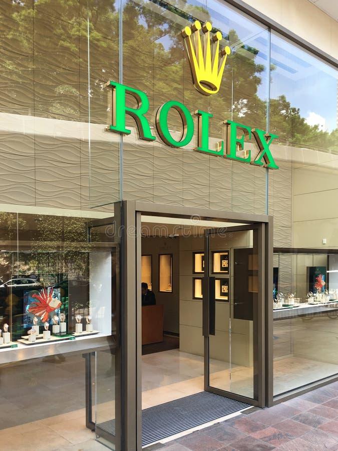 Deposito di Rolex in strada di cantone, Hong Kong fotografia stock