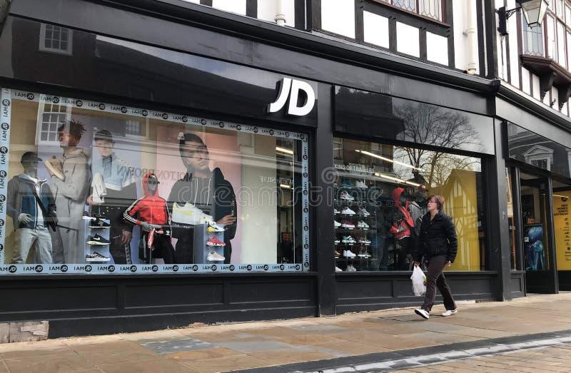 Deposito di sport di JD immagine stock