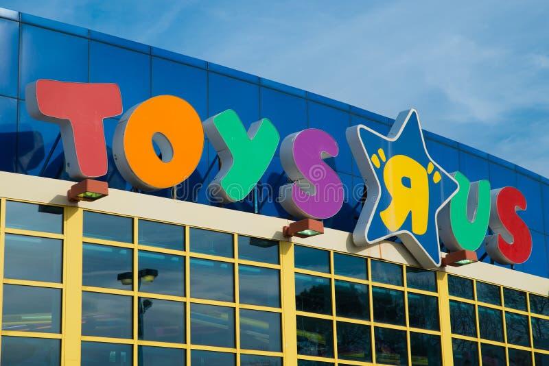 Deposito di Toys R Us fotografie stock libere da diritti