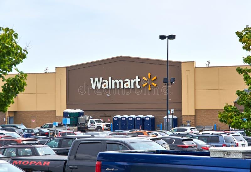 Deposito e logo di WalMart immagini stock