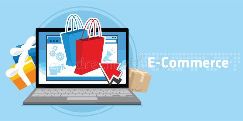 Deposito online di commercio elettronico illustrazione di stock