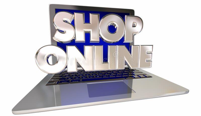 Deposito online di commercio elettronico del sito Web del negozio illustrazione vettoriale